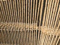 De textuur van de reeks bruine doorweven natuurlijke kabels, kabels van draad De achtergrond stock foto's