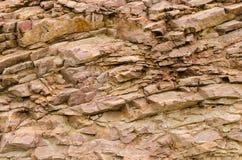 De textuur van rotsspleten Stock Afbeelding