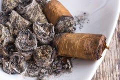 De textuur van de sigarenas stock foto's