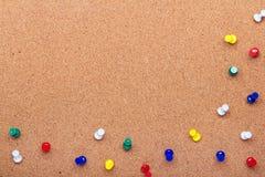 De textuur van de speldraad voor achtergrond en kleurrijk speldenkader stock foto