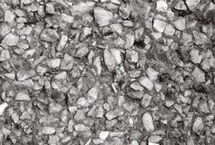De textuur van de steenmuur, kleine grijze steen stock afbeelding
