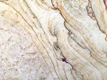 De textuur van de steentegel in bruin en romig wit Stock Foto's