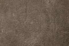 De textuur van de stof is bruine jute Natuurlijke textiel roestige oppervlakte Rechthoekig close-up, royalty-vrije stock afbeeldingen