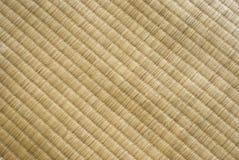 De textuur van Tatami. Traditionele Japanse cultuur. Stock Fotografie