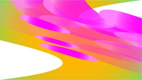 De textuur van transparante gele abstracte volumetrische modieuze magische lichte luchtantenne sneed cirkels, gebogen lijnen, rui stock illustratie