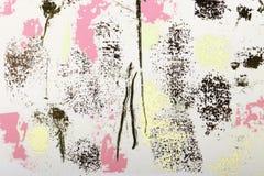 de textuur van de verf in sommige plaatsen roze, beige, goud vector illustratie