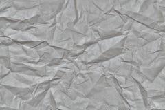 De textuur van verfrommeld grijs document Stock Afbeeldingen