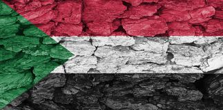 De textuur van de vlag de Soedan royalty-vrije illustratie