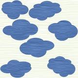 De textuur van wolken Stock Foto