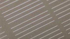 De textuur van de zonnebatterij stock video