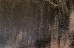 De textuur van zwart zand, conceptenachtergrond, natuurlijke achtergrond Royalty-vrije Stock Foto's