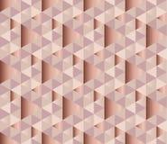 De textuur vectorachtergrond van het kopermetaal Stock Fotografie