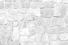 De textuur Witte kleur van de steenmuur Stock Afbeelding