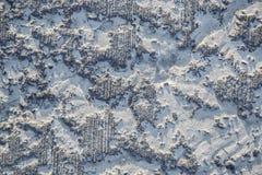 De textuur wordt gewist, beschadigde concrete deklaag stock afbeeldingen