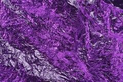 De textuurachtergrond van de aluminiumfolie Stock Afbeeldingen