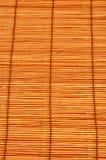 De textuurachtergrond van de bamboemat Stock Foto's