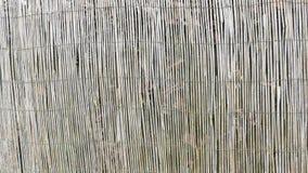 De textuurachtergrond van de bamboeomheining voor grafisch Stock Foto's
