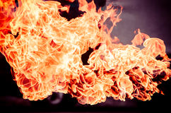 De textuurachtergrond van de brandvlam Royalty-vrije Stock Foto's