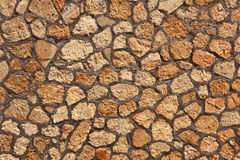 De textuurachtergrond van de hoge resolutie oranje rots Stock Foto