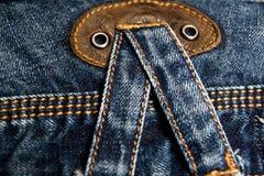 De textuurachtergrond van de jeans Royalty-vrije Stock Fotografie