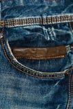 De textuurachtergrond van de jeans Stock Fotografie