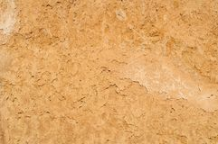 De textuurachtergrond van de kleigrond, droge oppervlakte Royalty-vrije Stock Afbeelding