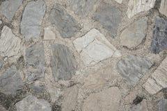 De textuurachtergrond van de steenweg Royalty-vrije Stock Afbeeldingen
