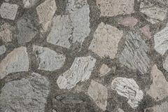 De textuurachtergrond van de steenweg Royalty-vrije Stock Foto's