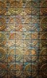 De textuurachtergrond van de terracottabakstenen muur stock afbeelding