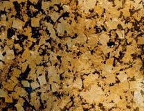 De textuurachtergrond van het bladgoud Royalty-vrije Stock Afbeeldingen