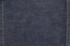 De Textuurachtergrond van het jeansdenim met Steken Stock Afbeelding
