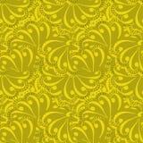 De textuurachtergrond van het lapwerk naadloze gele patroon Stock Foto