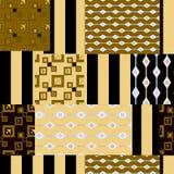 De textuurachtergrond van het lapwerk naadloze patroon Stock Foto's