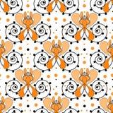 De textuurachtergrond van het lapwerk retro geometrische bloemenpatroon Stock Fotografie