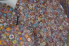 De textuurachtergrond van het Muranoglas Kleurrijk abstract patroon Stock Afbeelding