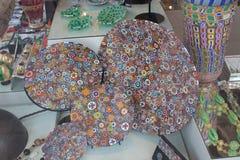De textuurachtergrond van het Muranoglas Kleurrijk abstract patroon Royalty-vrije Stock Foto's