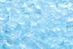 De textuurachtergrond van het de winter blauwe ijsblokje Royalty-vrije Stock Afbeeldingen