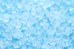 De textuurachtergrond van het de winter blauwe ijsblokje Stock Foto's
