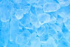 De textuurachtergrond van het de zomer blauwe ijsblokje Stock Afbeelding