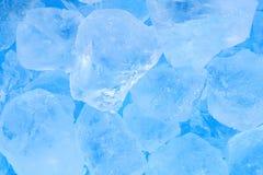 De textuurachtergrond van het de zomer blauwe ijsblokje Royalty-vrije Stock Foto's