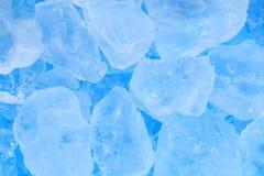 De textuurachtergrond van het de zomer blauwe ijsblokje Stock Foto's