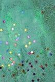 De textuurachtergrond van Litllesterren op papier stock foto