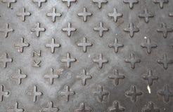De textuurachtergrond van de metaalvloer, patroon Royalty-vrije Stock Foto