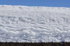 De textuurachtergrond van de sneeuwdekking sneeuw zoals slagroom Golven van sneeuw Stock Foto