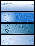 De textuurbanners van het water stock afbeelding