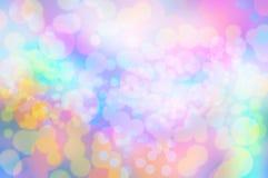De textuurbehang en achtergrond van de Blureregenboog bokeh Royalty-vrije Stock Fotografie