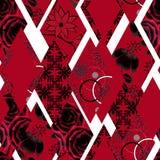 De textuurdark van het lapwerk naadloze patroon op witte achtergrond Stock Afbeeldingen