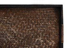 De textuurdienblad van het bamboe Stock Foto