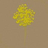 De textuureffect van het bloemenschrijfpapier gele bruine illustratie Royalty-vrije Stock Afbeeldingen