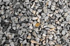 De textuurfoto van de steenmuur en witte stenen in het park Royalty-vrije Stock Foto's